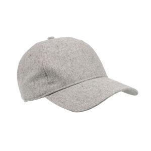 Heathered Grey Flannel Cap Adjustable